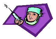 purple doc with needle